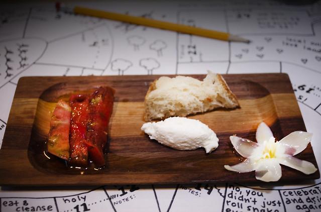 Yucca, Tomato, Bread, Cheese