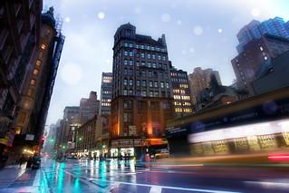 'Slick Streets', United States, New York, New York City, Broadway, Rainy Night