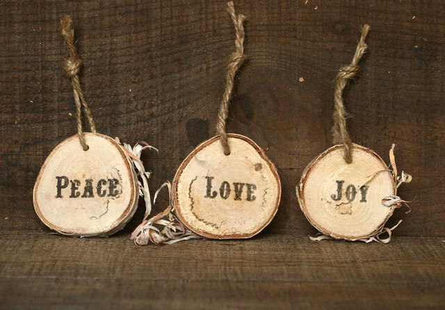 Rustic christmas ornaments flickr photo sharing