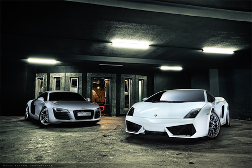 Lamborghini Gallardo LP 560-4 vs Audi R8  -1