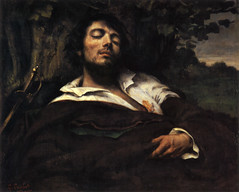 The Wounded Man, Self Portrait, 1844-54, by Gustave Courbet