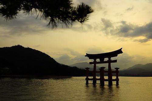 sunset japan miyajima torii japon 大鳥居 小川 ogawasan 小川さん