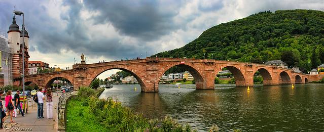 Río Neckar, Heidelberg, Alemania