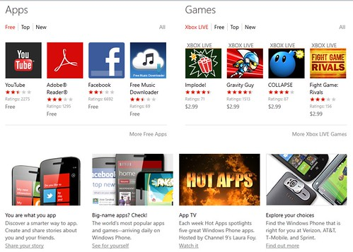 Windows Phone Marketplace: Available On Browsers