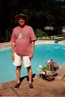 At Ruth & Jack's pool