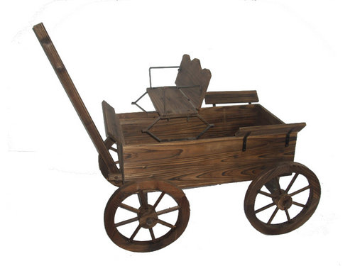 Wooden Wagon Planters Garden Planter Carts Made Of Chine