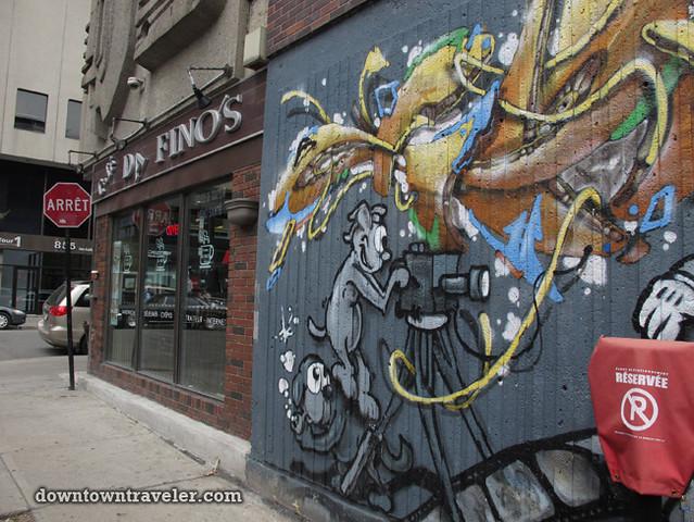 Cartoon mural in Gay City Montreal