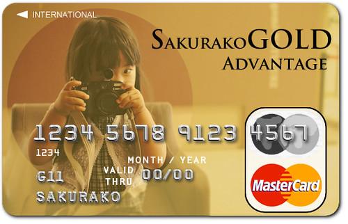 SAKURAKO Gold Card.
