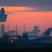 Schiphol Skyline at dawn
