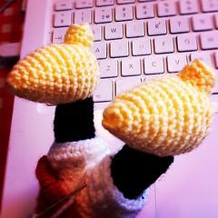 art, yellow, crochet,