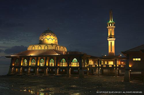 Al-Hussain Floating Mosque, Kuala Perlis Malaysia
