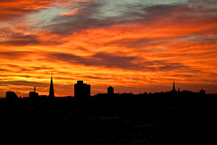 This morning's sunrise over the South End of Boston
