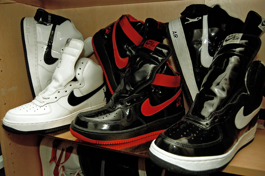 new photos fabec 63635 Nike Air Force 1 High Unreleased Sheed Sample Patent - Vin…