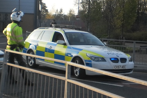 North Wales Police Road Policing BMW 5 Series 530D Estate  CX57 AEC