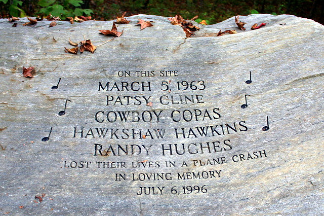 Patsy Cline Plane Crash Site Inscription