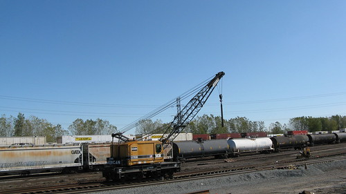 Norfolk Southern Railroad M.O.W crane.  Hammond Indiana USA.  Saturday, October 15th, 2011. by Eddie from Chicago
