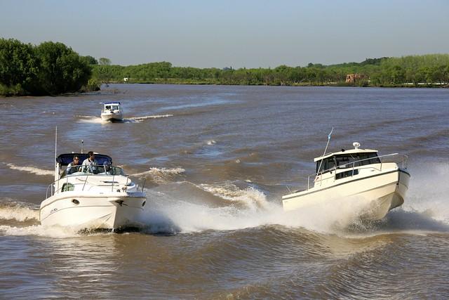 Boats on the Rio de Plata