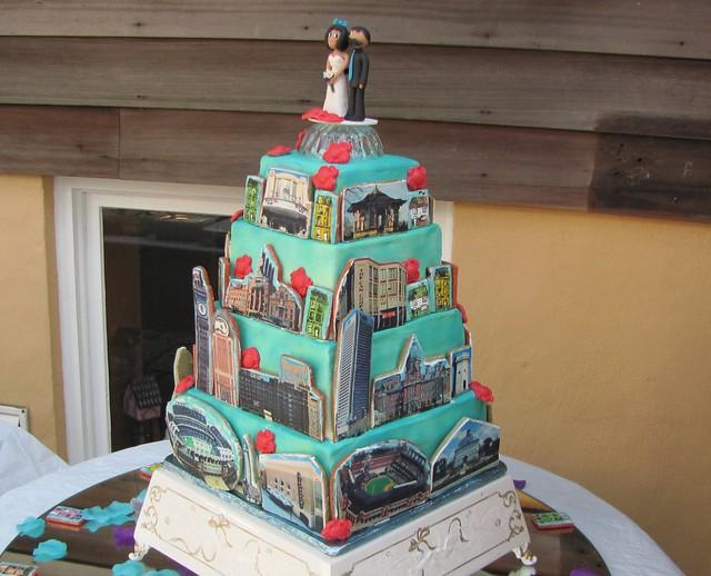 baltimore skyline wedding cake flickr photo sharing. Black Bedroom Furniture Sets. Home Design Ideas