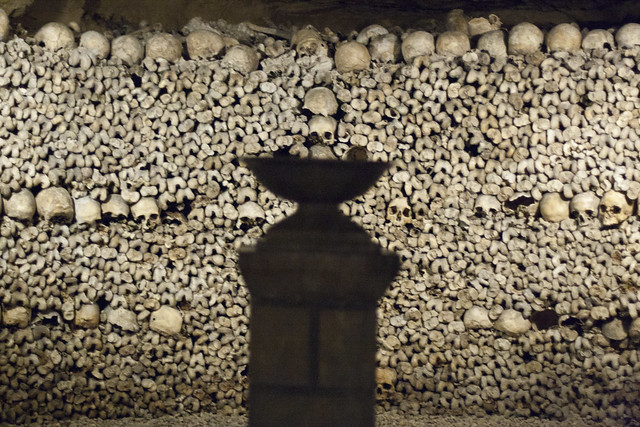 Stack of bones in the Paris Catacombs | Flickr - Photo Sharing!