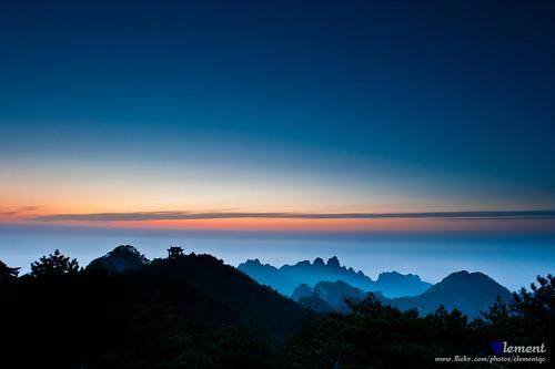 china travel light sunset cloud sun nature hongkong nikon asia natural nikkor 安徽 黃山 d700 2470mmf28g