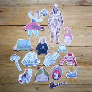 art stickers -- cut out