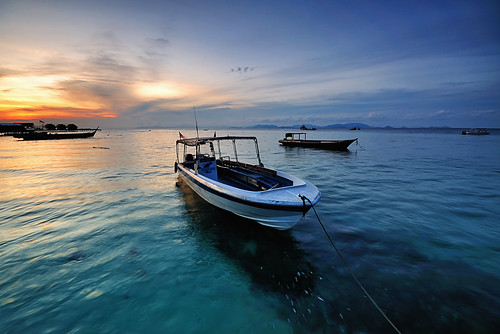 Sunset in Mabul Island