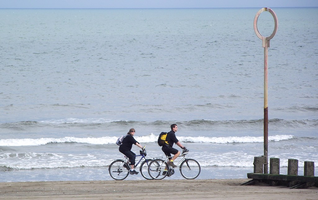 cycling on the beach 02