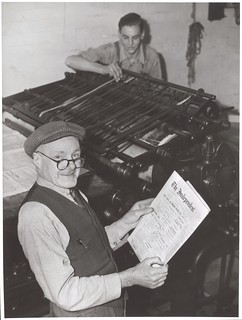 William Pettit and Ken McPhan of the Gippsland Independent and Express newspaper, Victoria