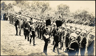 The cadets being inspected by the Governor-General, Lord Denman, at the Naming of Canberra ceremony, 12 March 1913