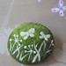 Needle felting brooch 'Green meadow'