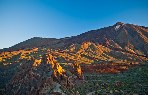 africa morning travel blue sky mountain horizontal sunrise early spain nikon african mount tenerife vulcano elteide 2040mm d700