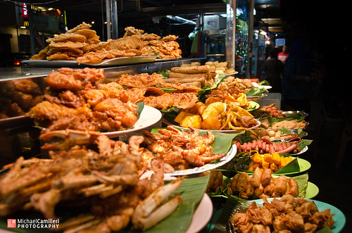 Hawker centre in Gurney Drive, Penang