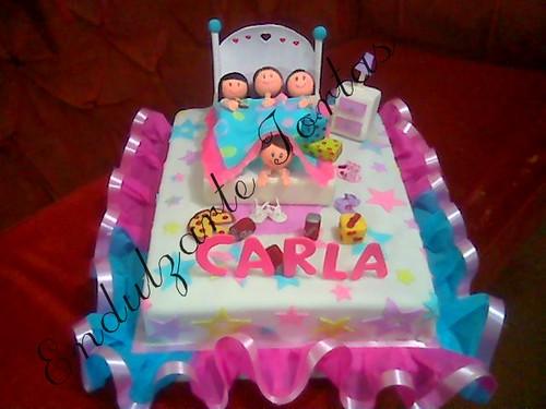 Endulzarte ♥☺: ☺ Torta pijamada - slumber party cake ☺