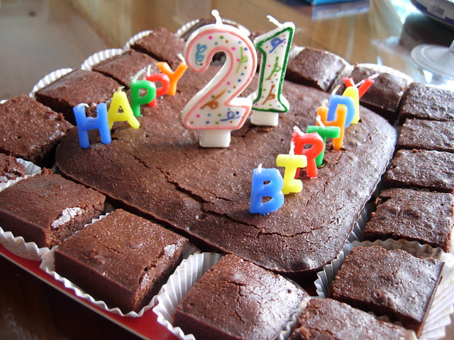 brownie birthday cake brownie birthday cake flickr photo 2093