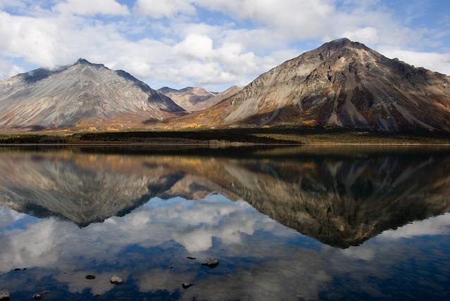 Twin Lakes. Parque nacional y reserva del lago Clark. Alaska..