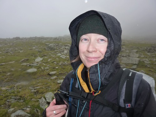 Catherine near the summit of Bow Fell