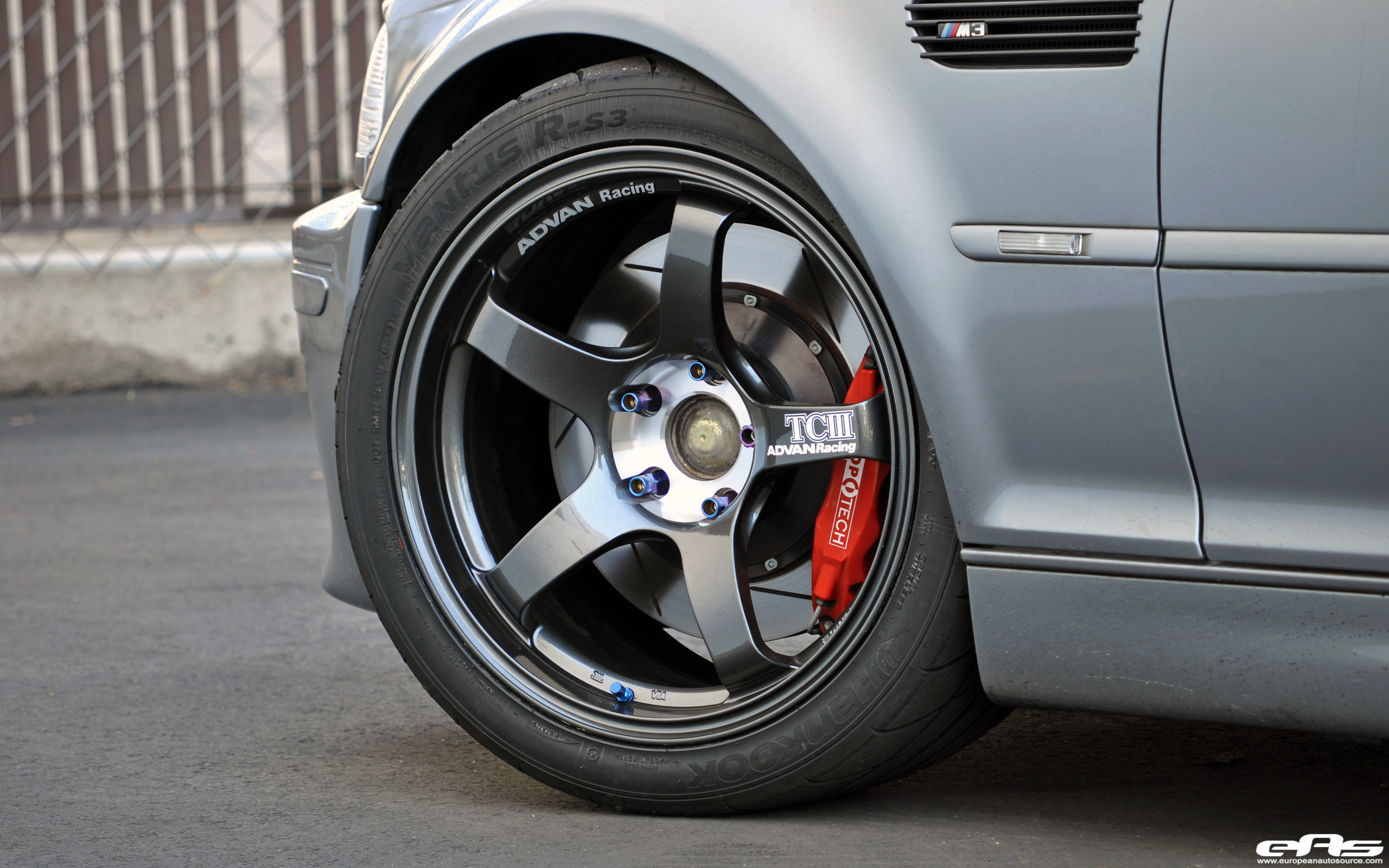 Silver Gray E46 M3 With Advan Tciii Wheels Bmw Performance Parts
