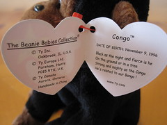 d644fad207c Ty Congo the Monkey Beanie Baby Hang Tag