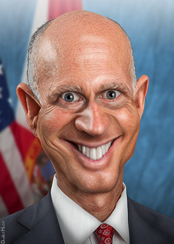 Rick Scott - Caricature