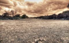 McKinney Falls is dry.