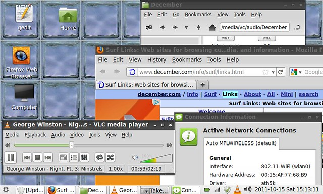Linux Mint (LXDE) on the EEEPC 701