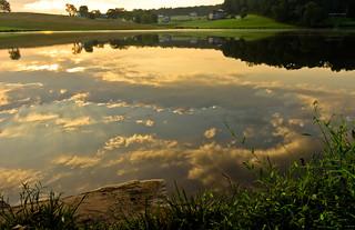 sky in the lake