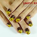 Nail Art Sunflowers 03