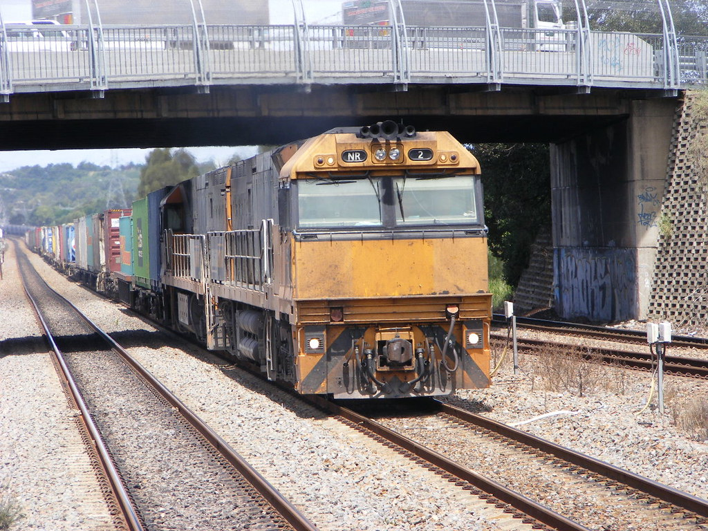 Pacific National NR2 and NR113 Sandgate 18.02.10 by Andy Cole