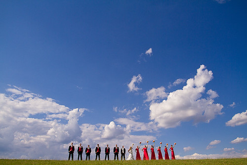 The Epic Bridal Party Shot