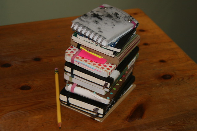 Mary Amato's notebook stack