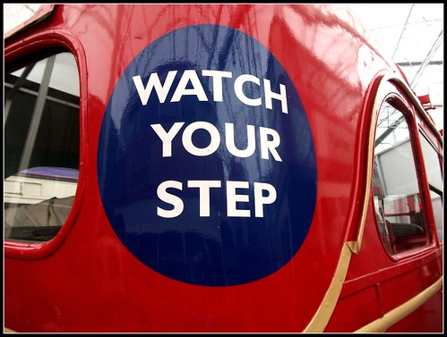 "London transport ""Watch Your Step""   London Bus Museum 18/09/11."