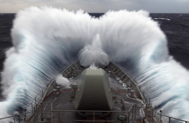 HMAS Anzac In Rough Seas  Flickr  Photo Sharing