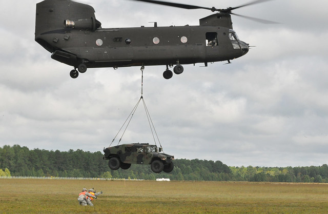 116th BCT makes Humvee fly by Virginia Guard Public Affairs