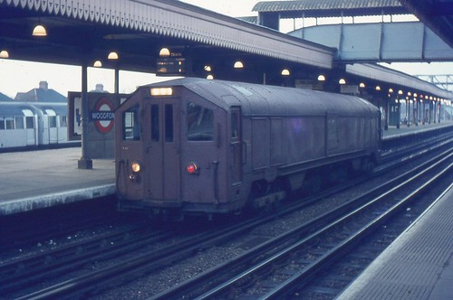 London Transport . Electric Sleet Locomotive . Woodford Station . March-1970 .